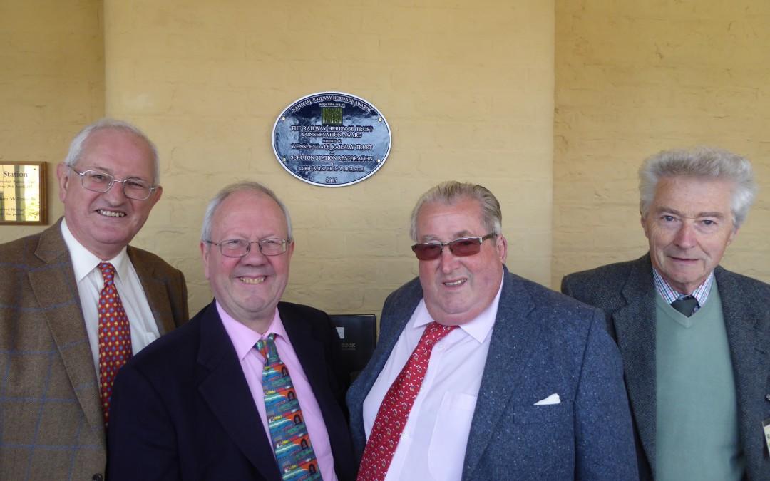 Scruton takes Railway Heritage Trust Conservation Award