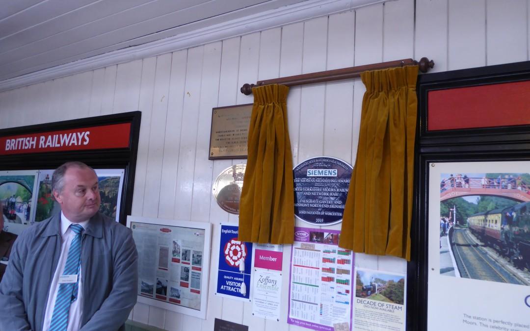 North Yorkshire Moors Railway signalling work rewarded
