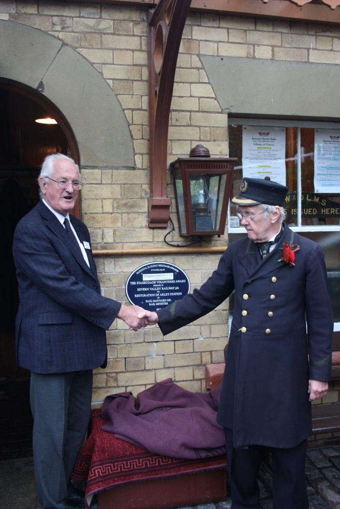 Severn Valley volunteers honoured a