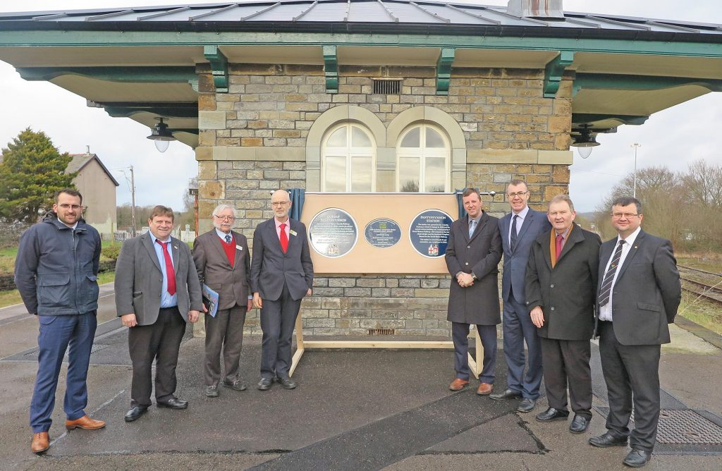 Pantyffynnon station plaque unveiled