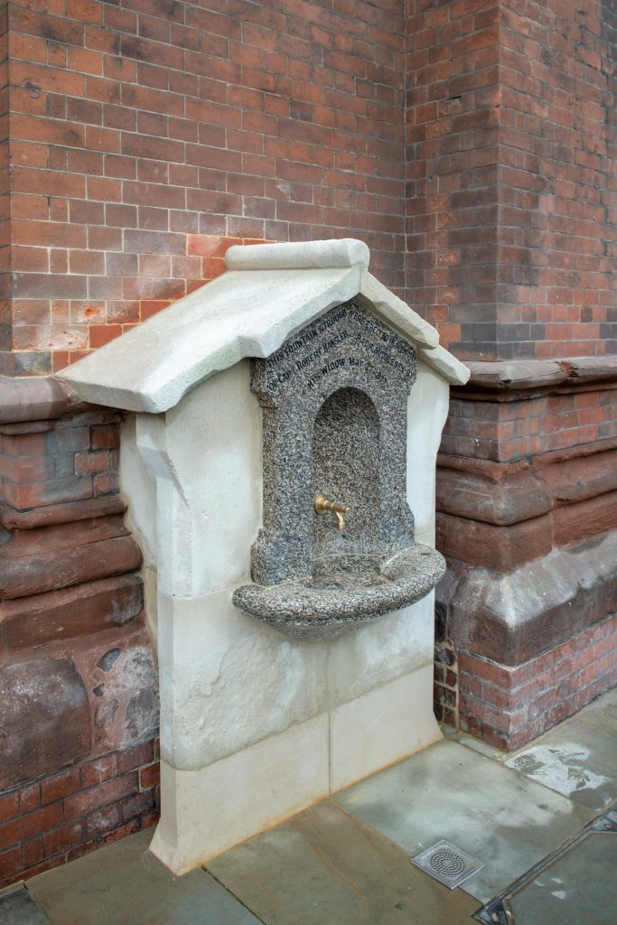 St Pancras fountain plaque unveiled
