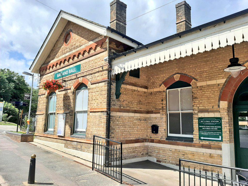 The restored station at Bat & Ball